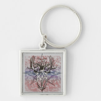 Abstract tat design keychain