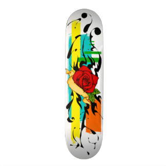 Abstract Tattoo Rose Deck