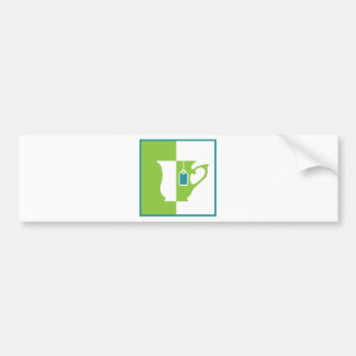 Abstract teacup bumper sticker