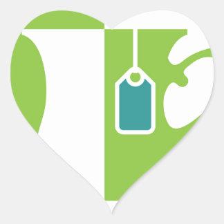 Abstract teacup heart sticker
