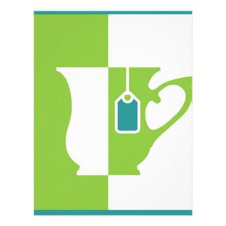 Abstract teacup letterhead