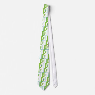 Abstract teacup neck tie