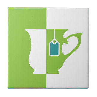Abstract teacup tile