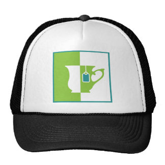 Abstract teacup trucker hat