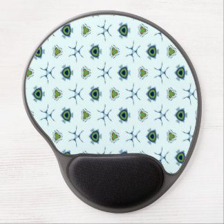 Abstract teal blue black peacock feathers. gel mouse pad