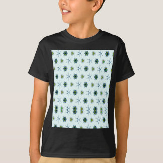 Abstract teal blue black peacock feathers. T-Shirt