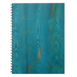 Abstract teal blue wood texture Notebook