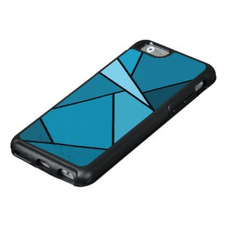Abstract Teal Geometric Shapes