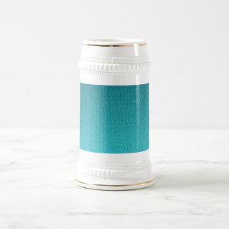 Abstract Teal Gradient Pattern Beer Stein