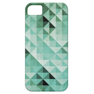 Abstract Teal Green Geo Patterns iPhone 5 Case