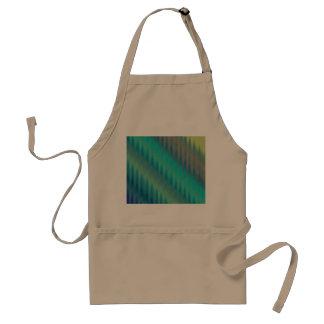 Abstract Teal Green Ikat Chevron Zigzag Aprons