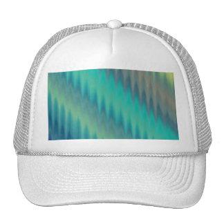 Abstract Teal Green Ikat Chevron Zigzag Trucker Hat