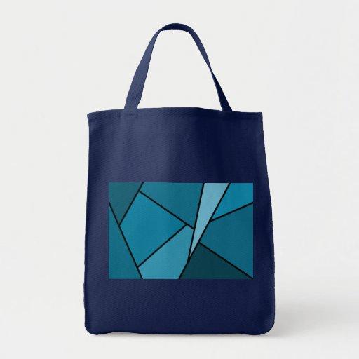 Abstract Teal Polygons Bag