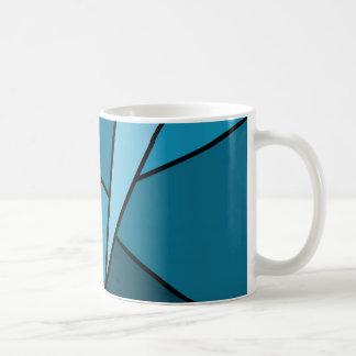 Abstract Teal Polygons Coffee Mug