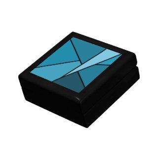 Abstract Teal Polygons Gift Box