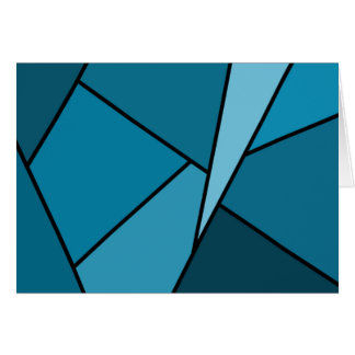 Abstract Teal Polygons Greeting Card