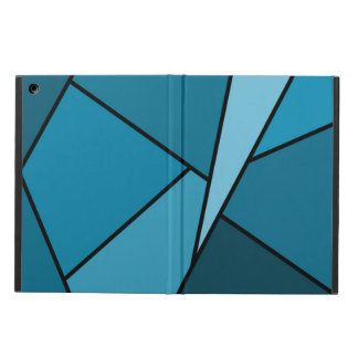 Abstract Teal Polygons iPad Air Cover