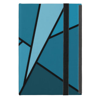 Abstract Teal Polygons iPad Mini Covers