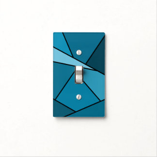 Abstract Teal Polygons Light Switch Cover