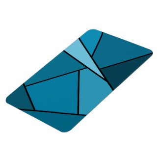 Abstract Teal Polygons Magnet