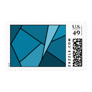 Abstract Teal Polygons – Medium Stamp