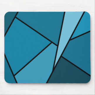 Abstract Teal Polygons Mousepads