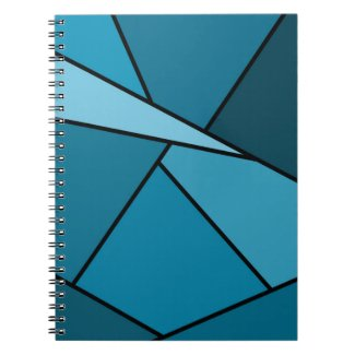 Abstract Teal Polygons Note Books