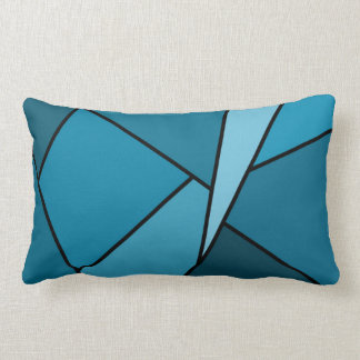 Abstract Teal Polygons Throw Pillow