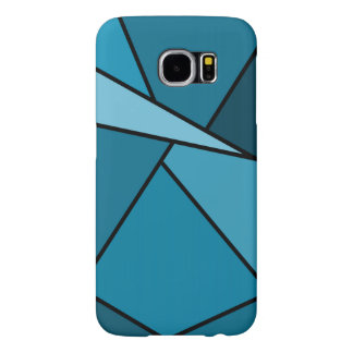 Abstract Teal Polygons Samsung Galaxy S6 Case