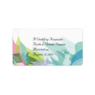 Abstract Teal Wedding Favor Lip Balm Tube Address Label