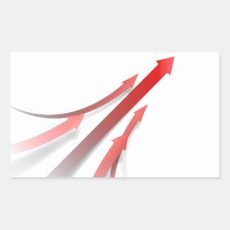 Abstract Teambuilding Background Rectangular Sticker