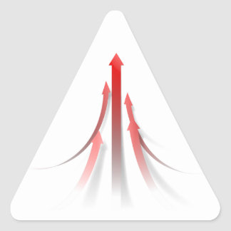 Abstract Teambuilding Background Triangle Sticker