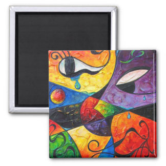 Abstract Tears 2 Inch Square Magnet