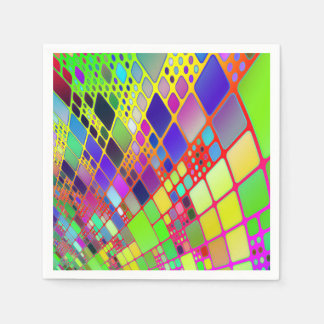 Abstract Technology Disposable Napkins