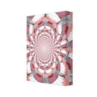 Abstract Teeth Wrapped Canvas