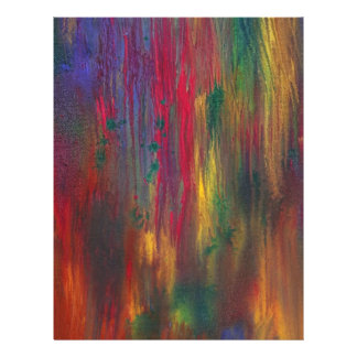Abstract - Tempera - Night Fall.jpg Personalized Flyer