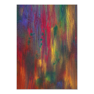 Abstract - Tempera - Night Fall.jpg Personalized Invites