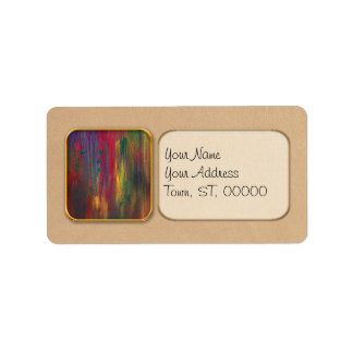 Abstract - Tempera - Night Fall.jpg Personalized Address Labels