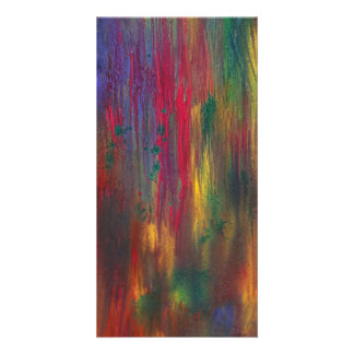 Abstract - Tempera - Night Fall.jpg Personalized Photo Card