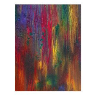 Abstract - Tempera - Night Fall.jpg Post Cards