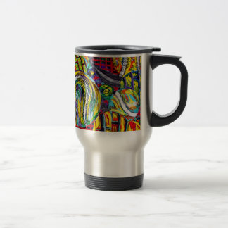 Abstract Tennis Artwork Travel Mug