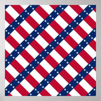 Abstract Texas flag Poster