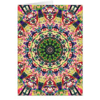 Abstract Textural Mandala 1 Card
