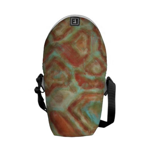 Abstract Texture 10 TPD Messenger Bags