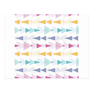 Abstract Texture Arrows Pattern Postcard