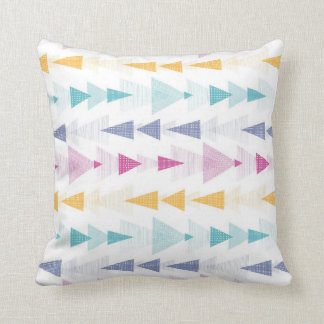 Abstract Texture Arrows Pattern Throw Pillow