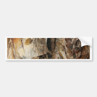Abstract Texture earthcolored Bumper Sticker