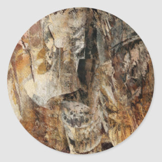 Abstract Texture earthcolored Classic Round Sticker