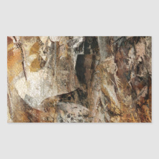 Abstract Texture earthcolored Rectangular Sticker