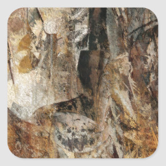 Abstract Texture earthcolored Square Sticker